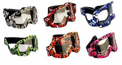 Moto X1 Motocross Ski Atv Goggles Motorcycle Off Road & Tear Off