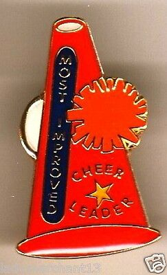 """""""MOST IMPROVED"""" Megaphone""""CHEER LEADER"""" (Red) PINS (25) All New"""