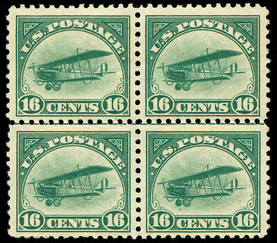 momen: US Stamps #C2 Block of 4 Mint OG 3NH/1LH VF