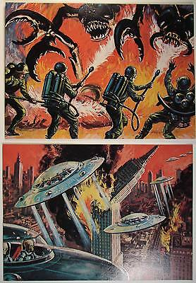 1984 Mars Attacks Reprint Promo Cards Renata Glasso Inc