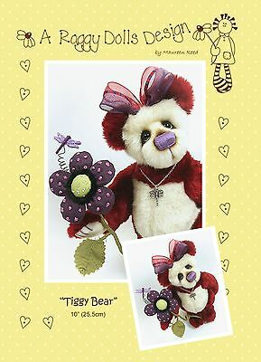 TIGGY BEAR - Sewing Craft PATTERN - Artist Bear Pattern