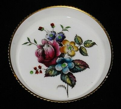 Royal Worcester G676 Hand Painted Coaster, Multi Color Floral