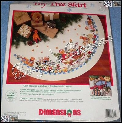 Dimensions TOY TREE SKIRT Christmas Counted Cross Stitch Kit – Susan Winget 1994