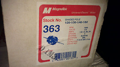 Genuine Magnetek Shaded Pole Motor # 363 1/20-1/30-1/40-1/60 1550 Rpm New In Box