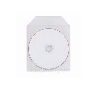 2000 CPP Clear Plastic Sleeve Bag Envelope with Flap CD DVD Disc 60 microns