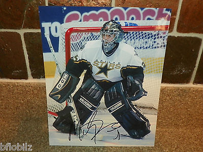 Autographed Action Photo NHL Hockey Player #35 Marty Turco Dallas Stars Goalie