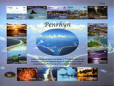 Penrhyn -- Island Aerial Views Sheetlet -- Numbered Edition