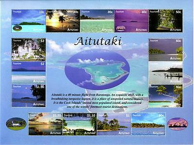 Aitutaki -- Island Aerial Views Sheetlet