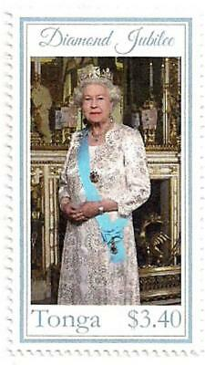 Tonga Diamond Jubilee Single Stamp