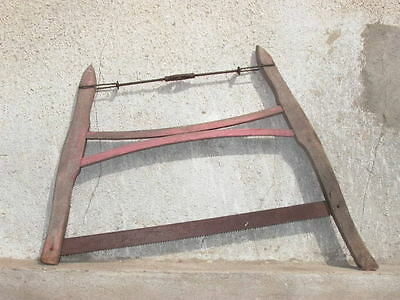 Antique Primitive Old Wood Hand Tool Buck Saw
