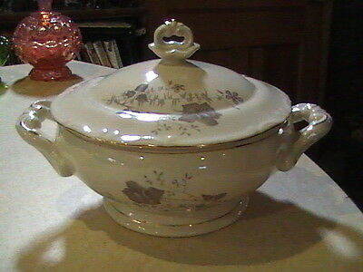P T Tulowice China Covered Soup Tureen Floral Poland