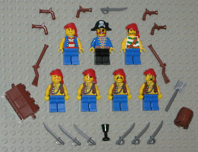 LEGO Minifigures 7 Pirates Guys Army Weapons Guns Swords Muskets Lego Minifigs