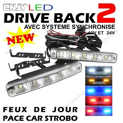 2 Feux Daylight Led E4 Reversible Pace Car Calandre Seat Alhambra 1.9 2.0