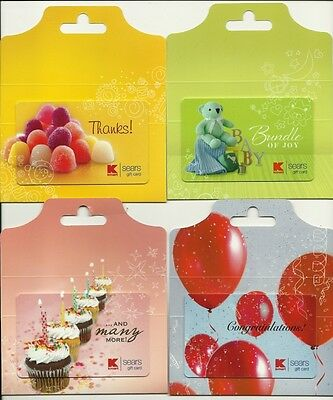 Lot of (4) Different Kmart Gift Cards Collectible No $Value