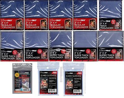 Ultra Pro Toploaders 32 55 75 100 120 130 180 pt New NIB w/ sleeves free ship