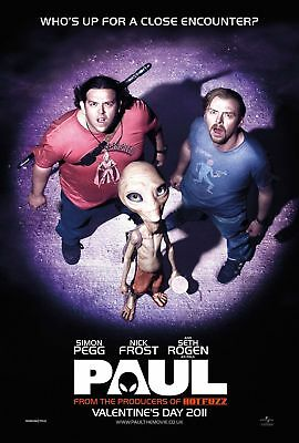 New Movie Poster - Paul (The Alien) A3 / A4