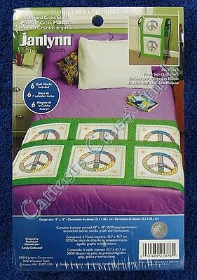 Stamped Cross Stitch Quilt Block Peace Sign