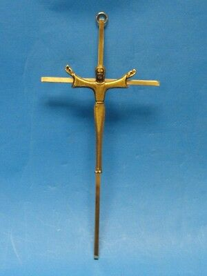 "Vintage Brass Crucifix  Cross ~ 10"" Cross"