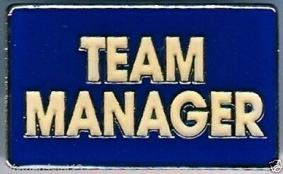 """""""TEAM MANAGER"""" Navy Blue Enamel Lapel Pins/Lot of 25/ALL NEW LINE!"""