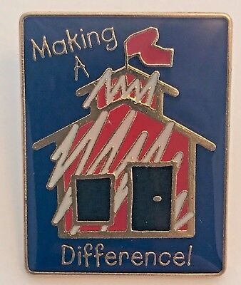 """Making A Difference!"" Schoolhouse Enamel Lapel Pins/Lot of 25/All New Line!"