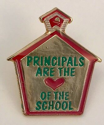 """""""PRINCIPALS ARE THE HEART OF THE SCHOOL"""" Lapel Pins/Lot of 25/All New Line!"""