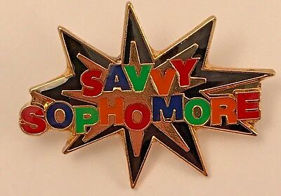 """SAVVY SOPHOMORE"" STAR Enamel Lapel Pins, Lot of 25! ALL NEW!"