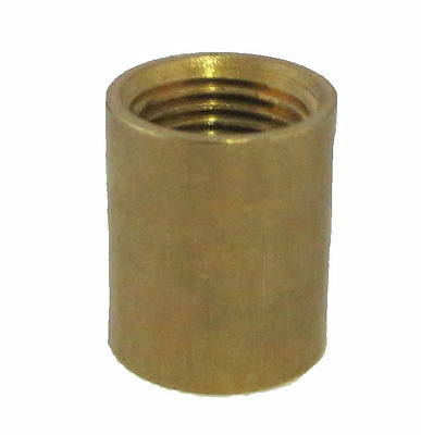 "Lamp parts:  brass coupling 3/8"" hole x 3/8""  hole  TV-80"