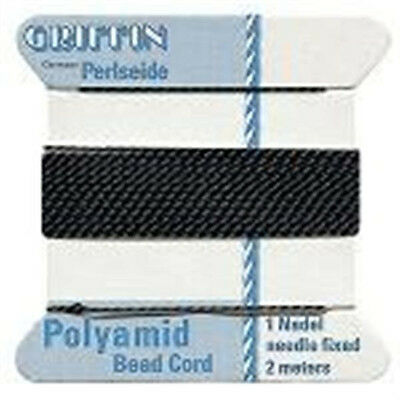 GRIFFIN Carded Nylon Beading Cord Size #8 Pick Color