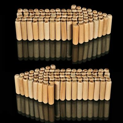 1000, 8mm x 35mm FLUTED HARDWOOD WOODEN WOOD DOWEL PINS FOR WOODWORKING ETC *