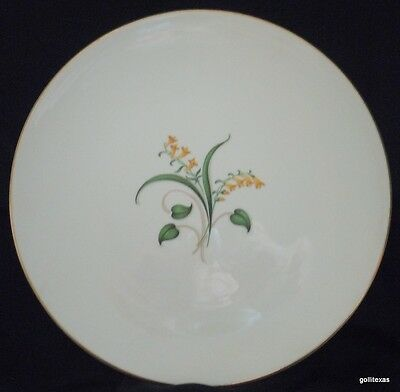 Vintage '50's Set of 2 Dinner Plates Knowles Forsythia 10.25