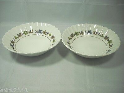 Set of 2 Cereal Bowl (s) WOODLAND by J & G Meakin Great Condition 109066