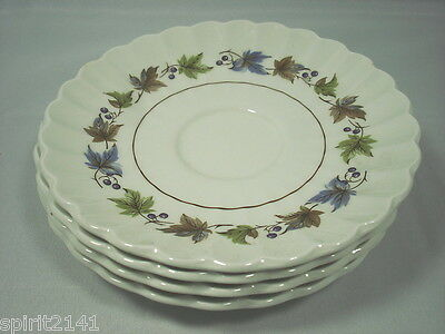 Set of 4 Saucers WOODLAND by J & G Meakin Great Condition 109132