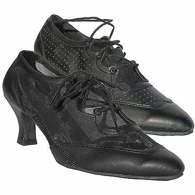 Womens Ballroom Salsa Latin Practice Leather Dance Shoes 6823 Very Fine 2.5 Heel