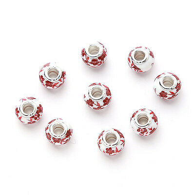 20 New Charms Ceramic Bead Fit European Bracelet 150669