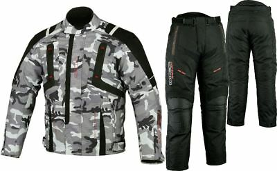 New Camo Cordura Waterproof Motorcycle Motorbike Scooter Textile Jacket