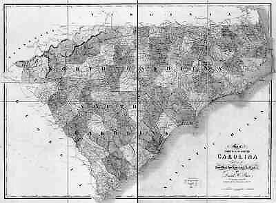 1839 SC MAP Greer Bennettsville Cayce Old South Carolina History      HUGE