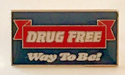 """DRUG FREE Way To Be!"" Red Ribbon Enamel Lapel Pins/Lot of 25/ALL NEW!"