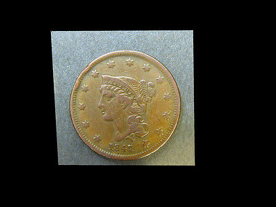 United States of America 1842 Large Cent  R-2 N-1