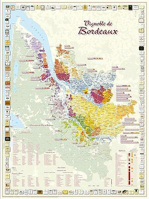 Carte du Vignoble de Bordeaux - CARTE PLIEE