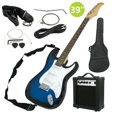 "Full Size 39"" Electric Guitar + 10W Amp + Gig Bag Case + Guitar Strap Beginners"