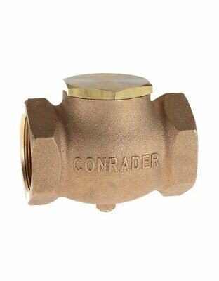 "New 3/8"" CAST brass horizontal check valve air compressor in line vertical"