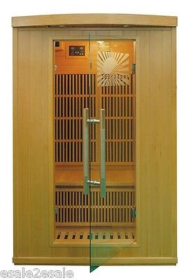 Brand New Infrared Sauna Solid Canadian Hemlock 2 Person