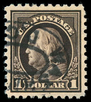momen: US Stamps #460 Used PSE Graded XF-SUP 95
