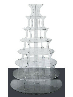 8 Tier Cake Stand Wedding Acrylics Clear Round Acrylic Party Cupcake Display