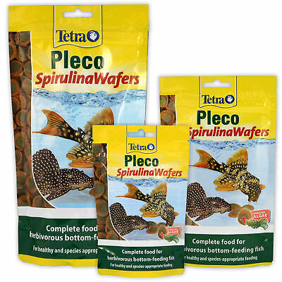 TETRA PLECO ALGAE WAFERS 42G 85G 150G 2-in-1 FOOD SINKING AQUARIUM FISH TANK