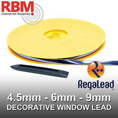 REGALEAD 50mtr SELF ADHESIVE OVAL WINDOW LEAD, NATURAL, ANTIQUE, WHITE & GOLD