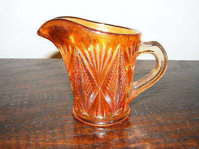 "Carnival   Marigold    Glass   Cream  Or   Milk  Jug    Height   3.1/4""   Inches"