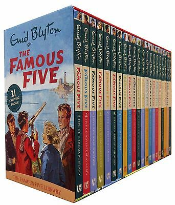 Enid Blyton Famous Five Series 21 Books Set (1 To 21) Collection Pack NEW