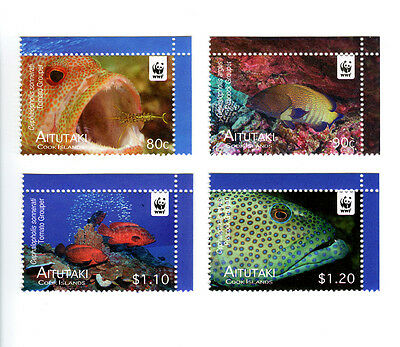 Aitutaki WWF Fish Issue Singles