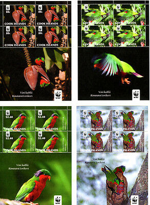 Cook Islands WWF Birds Issue Sheetlets
